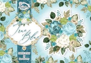 逼真蓝色水彩花卉手绘剪贴画PNG素材 Watercolor True Blue design插图4