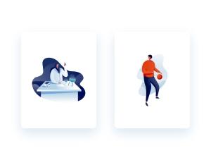一流设计素材网下午茶:有创意的教育主题插画矢量素材下载[Ai]插图3