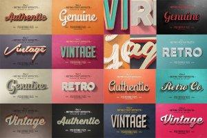 50款经典复古文本文字效果图层 50 Vintage Text Effects Bundle插图2