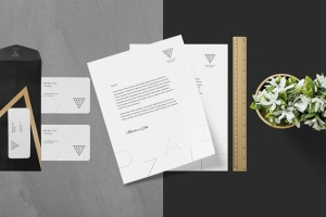 高品质企业品牌办公用品套装样机 Stationery Mockup Scenes插图9
