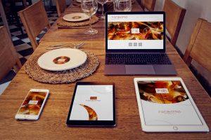 苹果智能设备屏幕界面UI设计效果图样机套装 iPhone 6, iPad Mini 3, iPad Air 2, Macbook, Dish Mockup插图1