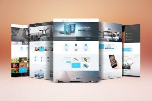 网站设计案例预览样机模板 Website Display Mockup插图1