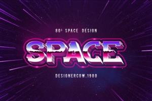 80年代复古风格文本特效文字样式v1 80's Style Text Mockups V1插图11