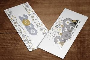 扁平设计风格彩色线条新年庆祝主题概念插画素材 Flat Thin Color Line Concept of Happy New Year插图2