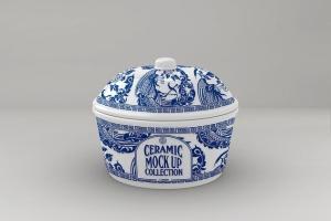 浮雕陶瓷餐具样机模板 Ceramic Pot Packaging MockUp插图2