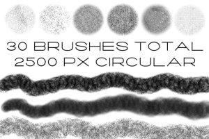 复古怀旧风格文本图层样式PS笔刷 Vintage Brush Kit插图(3)