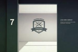 标牌和徽标设计PSD样机 Signage & Logo Mock-up插图5