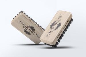 鞋刷品牌Logo设计预览样机模板 Shoe Brush Mock-Up插图1