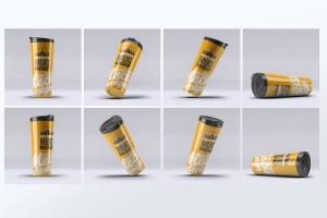 旅行水杯外观设计样机模板 Travel Tumbler Mug Mock-Up插图3