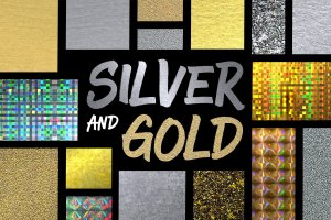 24款实用银色和金色图层样式 24 Silver and Gold Styles插图1