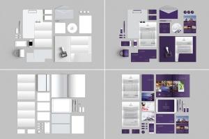 10个时尚高端办公品牌文具样机VI展示模型mockups插图2