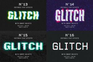毛刺字体特效设计PSD模板 Photoshop Glitch Text Effects插图15