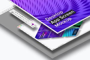 桌面应用程序APP界面设计效果图样机02 Desktop App Screen Mockup 02插图3
