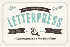 凸版印刷文本图层样式 RetroSupply LetterPress插图1