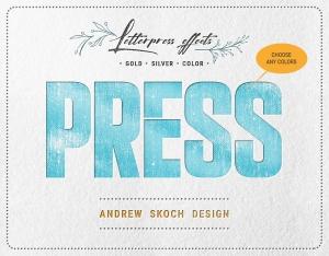 凸版印刷设计风格文本&Logo设计预览样机PSD模板 Letterpress – Text & Logo PSD Mockups插图5