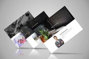 网站设计3D立体演示效果图样机模板 Web Themes Mock ups插图4