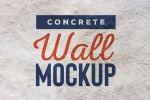 混凝土墙刷墙效果图样机模板 Concrete Wall Mockup插图1