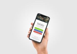 手持iPhone 11手机场景屏幕预览样机模板 iPhone 11 Pro on Hand Mockup插图4