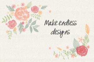 水彩花卉PS印章画笔笔刷 Floral Watercolor PS Stamp Brushes插图(9)
