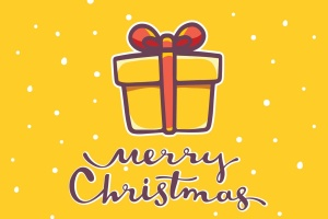 圣诞节&新年庆祝主题简易矢量手绘图形素材 Collection of Christmas cards插图1