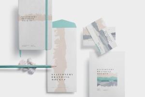 办公用品套装品牌VI设计预览样机模板 Stationery Branding Mockups插图4