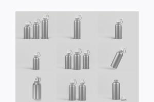 金属运动水杯外观样机模板 Reusable Water Bottle MockUp插图7