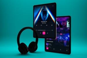 音乐APP界面设计效果图iPad Pro平板电脑样机模板 iPad Pro Music App插图6