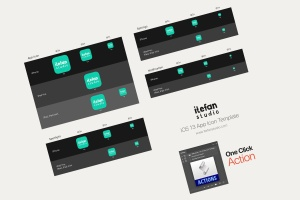 iOS13系统APP图标及APP Store预览样机模板 iOS 13 App Icon Template插图4