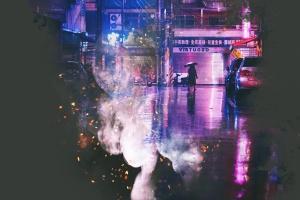 人像肖像照片梦幻烟雾蒙版处理PSD图层样式 Artistic Smoke Photo Effect插图2