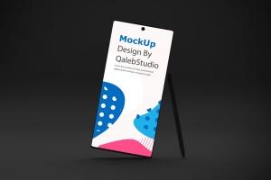 Note 10大屏手机屏幕预览样机模板 Dark Note 10 Mockup插图2