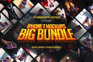 手持iPhone 7设备样机套装Vol.1 iPhone 7 Mockups Bundle Vol 1插图1