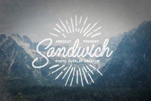 复古怀旧风格照片图层样式 Sandwich – Photo Overlays Creator插图1