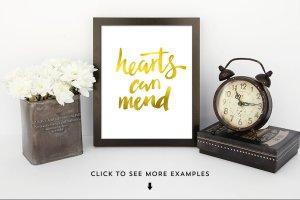 奢华金色叶子纹理图层样式 Gold Leaf Press – Glitter Update插图2
