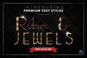 20款红宝石&珠宝文本风格的PS图层样式下载 20 RUBIES & JEWELS TEXT STYLES [psd,asl]插图5