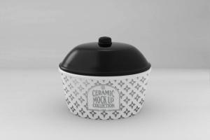 浮雕陶瓷餐具样机模板 Ceramic Pot Packaging MockUp插图9