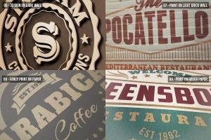 逼真的高品质logo标志特写VI样机展示模型mockups插图3