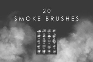 20款高品质烟雾效果PS笔刷 20 Smoke Photoshop Brushes插图(2)