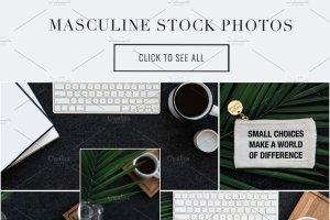 iPad办公场景样机模板 Masculine Stock Photos + iPad Mockup插图9