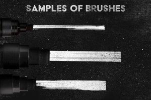 绘画马克笔记号笔AI画笔笔刷 Marker Illustrator Brushes插图(2)