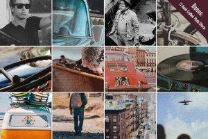 复古怀旧乡村风格图层样式 Vintage Hometown Effects Pack +BONUS插图6