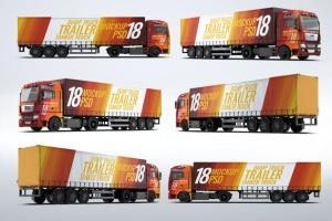 半挂车半挂卡车外观喷漆图案样机模板 Trucks Mock-Up插图8