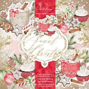 甜蜜圣诞节水彩手绘图案PNG素材 Sweet Christmas design插图4