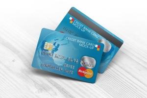 信用卡银行卡设计样机模板 Credit Bank Card Mock-Up插图1