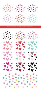 情人节糖果图案PS笔刷 Valentine Confetti Kit插图3