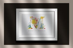 复古风格花卉字母&数字设计PNG素材 Vintage Flower Alphabet插图7