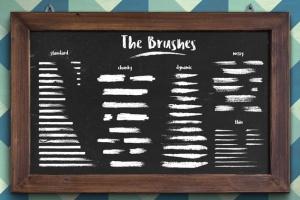 经典粉笔画黑板画AI笔刷 Classic Chalk – Brushes + Patterns插图3