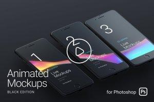 Apple设备动态样机合集[酷黑版本] Looped Animated Mockups   White插图1