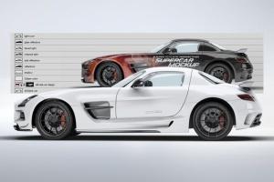 超级豪华跑车梅赛德斯SLS AMG样机模板 Supercar Mercedes SLS AMG Mock-Up插图8