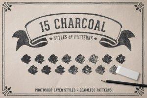 创意粉笔黑板画组件图层样式 Chalk & Charcoal Effects Volume 1插图3