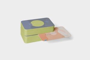 圆角企业名片设计效果图预览样机模板 Business Card Mockup Stack Round Corners插图3